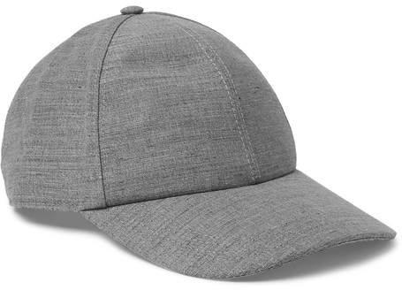 Brunello Cucinelli Mélange Linen and Wool-Blend Baseball Cap