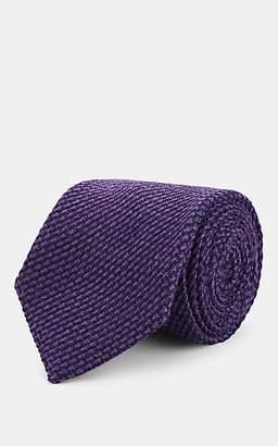 Fairfax Men's Wool-Silk Grenadine Necktie - Purple