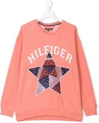 Tommy Hilfiger Junior Teen star appliqué sweatshirt