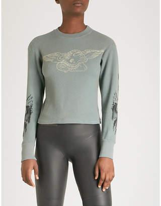 Yeezy Season 6 printed thermal cotton jumper
