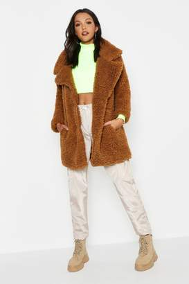boohoo Tall Oversized Faux Fur Coat