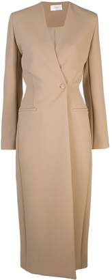 The Row off-centre fastened midi coat