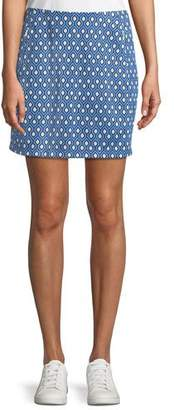 Tory Sport Printed Jacquard Performance Skirt