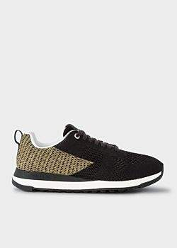 Paul Smith Women's Black And Gold 'Rappid' Knitted Trainers