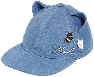Karl Lagerfeld Choupette Cat Ears Denim Hat W/ Pins