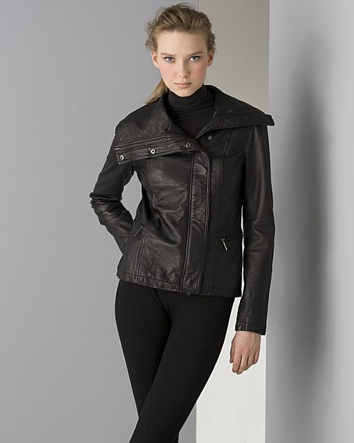 Vince Women's Asymmetrical Biker Leather Jacket