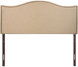 Modway Curl Queen Nailhead Upholstered Fabric Headboard
