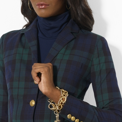 Ralph Lauren Cotton Tartan-Plaid Jacket