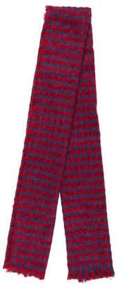 Barneys New York Barney's New York Knit Checked Scarf
