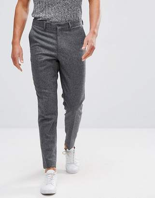 Selected Tapered Tweed Wool Mix Houndstooth Pants