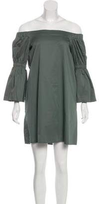 Tibi Mini Off-Shoulder Dress