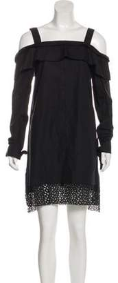 Proenza Schouler Off-The-Shoulder Mini Dress Black Off-The-Shoulder Mini Dress