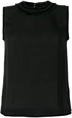 DSQUARED2 velvet trim tank top