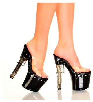 "The Highest Heel Halloween Women's 7 1/2"" Gun Heel With Diamond Bottom"