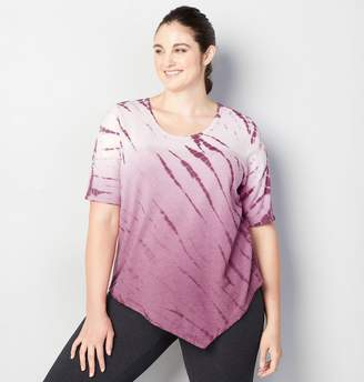 Avenue Tie Dye Asymmetric Active Top
