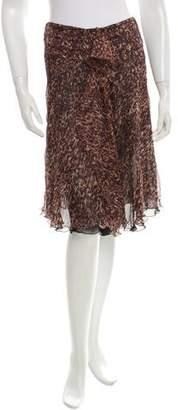 Sonia Rykiel Silk Abstract Print Skirt