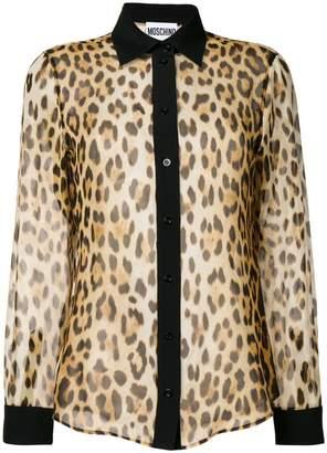 Sheer Leopard Print Shirt - ShopStyle f04e00017