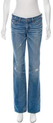 Adriano Goldschmied Distressed Low-Rise Jeans