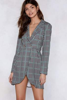 Nasty Gal Check With Me First Blazer Dress