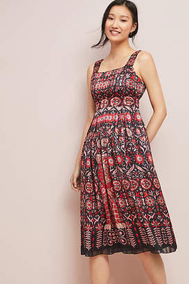 Anna Sui Rouge Pleated Dress