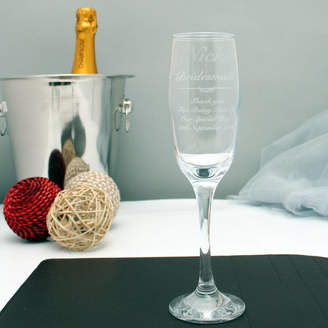 GiftsOnline4U Engraved Champagne Flute For The Bridesmaid