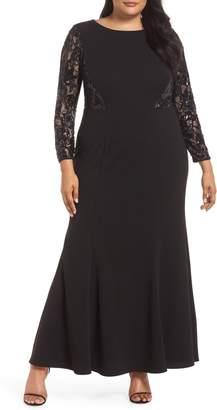 Eliza J Lace Inset Gown