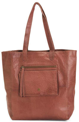 Heather Leather Tote