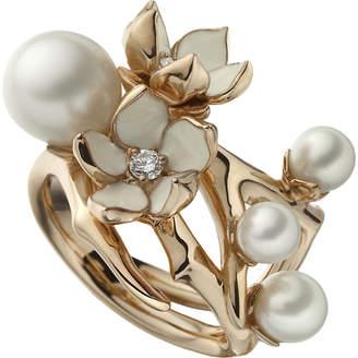 Shaun Leane Cherry Blossom rose-gold vermeil, white pearl and diamond ring