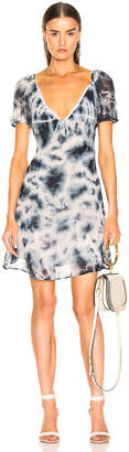 Miaou Kate Dress in Indigo Tie Dye | FWRD