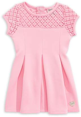 Juicy Couture Little Girl's Cap-Sleeve Pleated Dress
