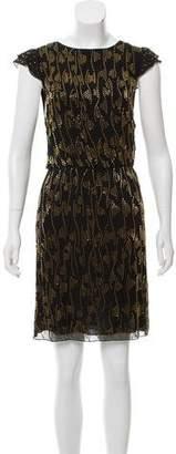 Alice + Olivia Silk Embellished Mini Dress