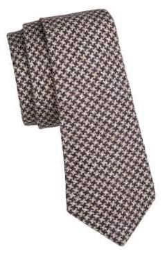 Brunello Cucinelli Flannel Houndstooth Tie
