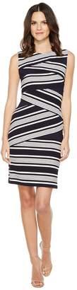 Adrianna Papell Sleeveless Stripe Bodycon Dress Women's Dress