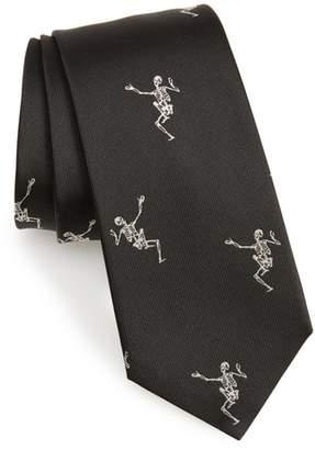 Alexander McQueen Dancing Skeleton Silk Tie