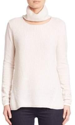 Elie Tahari Francesca Cashmere Cutout Turtleneck Sweater
