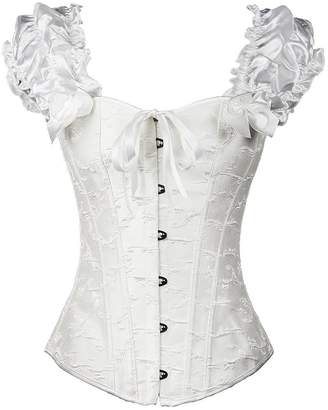Hunter Little Women's Brocade Elegant Sexy Gothic Bustier Push Up Bridal Overbust Corsets