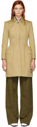 Thom Browne Khaki Bal Collar Hip Padded Coat