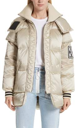 Off-White Patch Down Fill Puffer Jacket