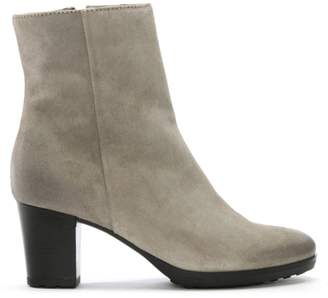 Manas Design Grey Suede Distressed Ankle Boots