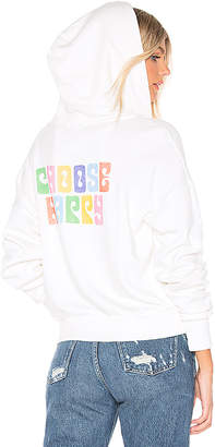 LnA Choose Happy Zip Up Hoodie