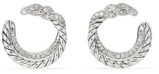 David Yurman Continuance Hoop Earrings with Diamonds