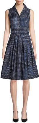Samantha Sung Claire Woodbrook Check Sleeveless Shirtdress