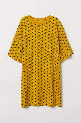 H&M Oversized Printed T-shirt - Yellow