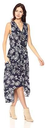 Ella Moon Women's Kaya Sleeveless Asymmetric Tassel Maxi Dress