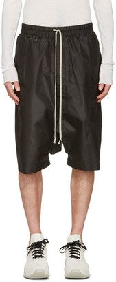 Rick Owens Black Pods Shorts $810 thestylecure.com