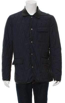 Etro Quilted Leather Paneled Down Jacket