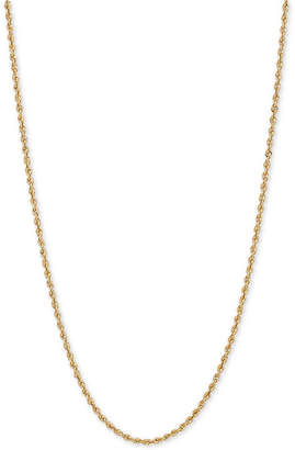 "Macy's 18"" Glitter Rope Chain Necklace (1-3/4mm) in 14k Gold"