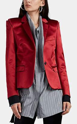 Taverniti So Ben Unravel Project Women's Deconstructed Silk Blazer - Red