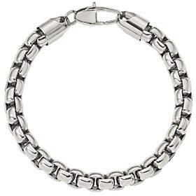 """Steel by Design Men's 9"""" Square Link Bracelet"""