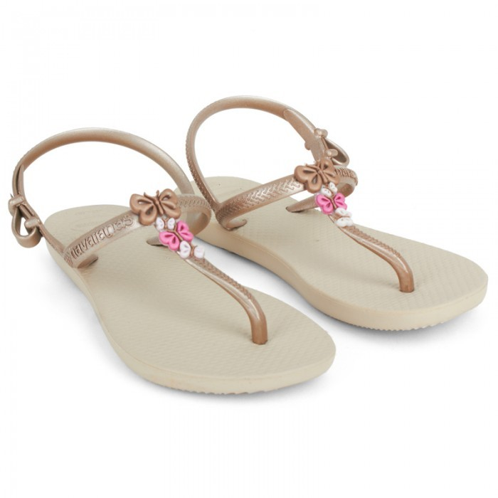 Havaianas Gold Freedom Butterfly Sandals